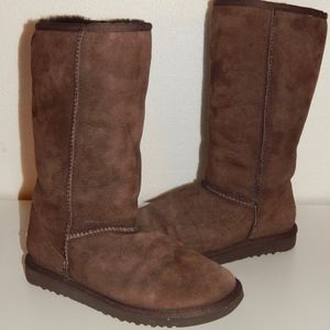 UGG brown suede shearling boots women 5